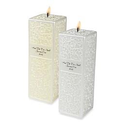 Ivy Lane Design™ Embossed Flourish Square Pillar Candle