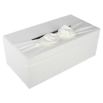 ivy lane design u2122 wedding money box with sash in white