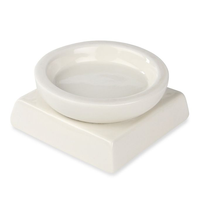 Alternate image 1 for Ivy Lane Design™ Porcelain Circle/Square Candle Holder in White