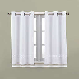 Hookless Escape 45 Inch Bath Window Curtain Panels