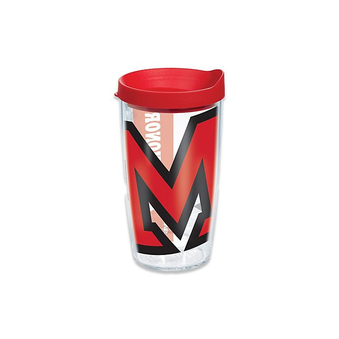 Alternate image 1 for Tervis® Miami University of Ohio Redhawks 16 oz. Wrap Tumbler with Lid