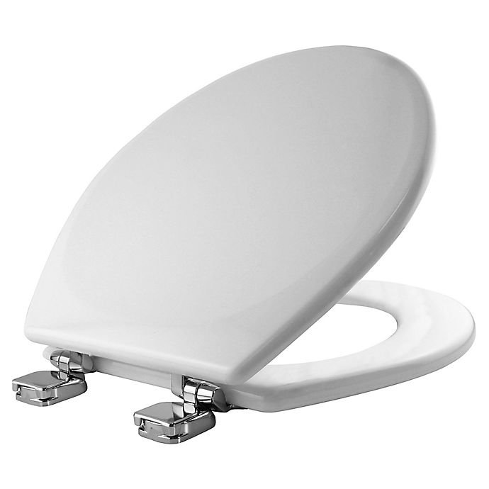 Alternate image 1 for Mayfair® Easy-Clean & Change™ Wide Round Toilet Seat in Cream