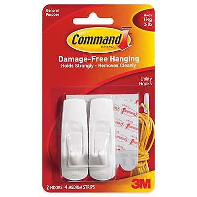 3M Command™ 2-Pack Medium Hooks in White