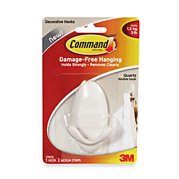 3M Command Medium Double Hook in White