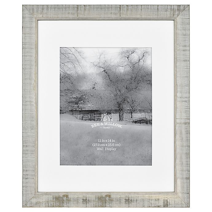 Alternate image 1 for Bee & Willow™ Home 11-Inch x 14-Inch Matted Wood Picture Frame in Austin Grey