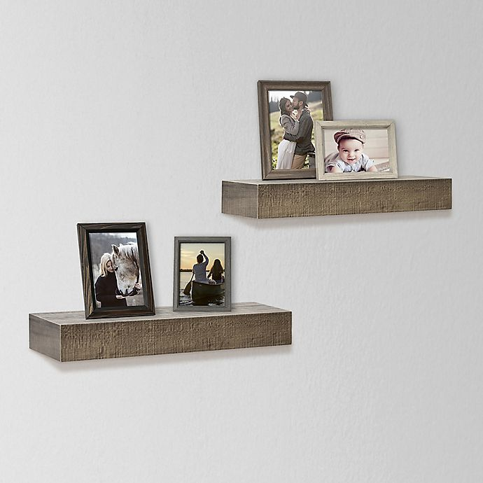 Alternate image 1 for SALT™ 2-Piece Rustic Wood Shelf Set