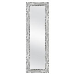 MCS Industries® 53.5-Inch x 17.5-Inch Rectangular Woodgrain Over-The-Door Mirror in Grey