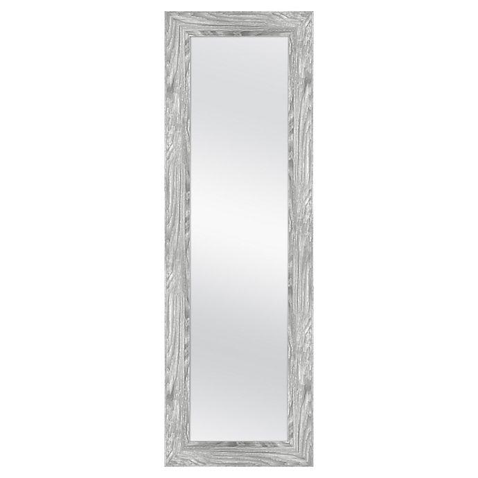 Alternate image 1 for MCS Industries® 53.5-Inch x 17.5-Inch Rectangular Woodgrain Over-The-Door Mirror in Grey