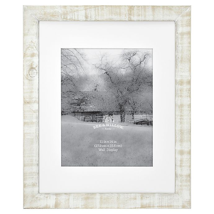 Alternate image 1 for Bee & Willow™ Home 11-Inch x 14-Inch Matted Wood Picture Frame in White