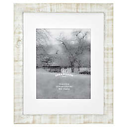 Bee & Willow™ Home 11-Inch x 14-Inch Matted Wood Picture Frame in White