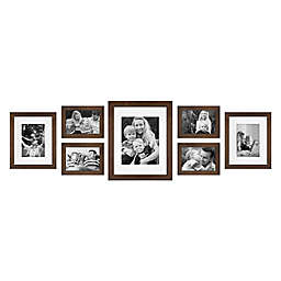 SALT™ 7-Piece Gallery Picture Frame Set in Walnut