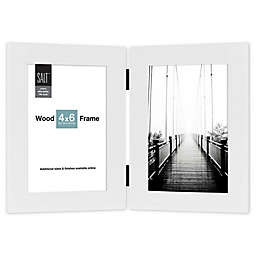 SALT™ 2-Photo Hinged Wood Picture Frame