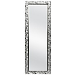 Cobblestone 19.75-Inch x 56.25-Inch Over-the-Door Mirror in Pewter/Silver