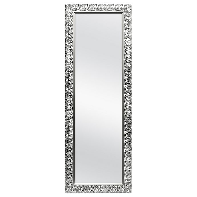 Alternate image 1 for Cobblestone 19.75-Inch x 56.25-Inch Over-the-Door Mirror in Pewter/Silver