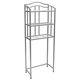 Grayson Over the Toilet 3-Shelf Space Saver in Satin Nickel