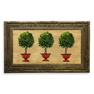 Framed Topiary Door Mat Bed Bath Amp Beyond