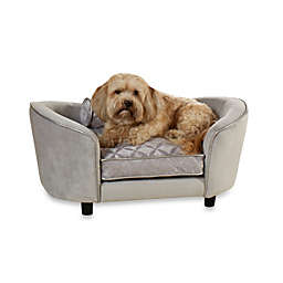 Enchanted Home Pet Ultra Plush Large Snuggle Bed in Quicksilver