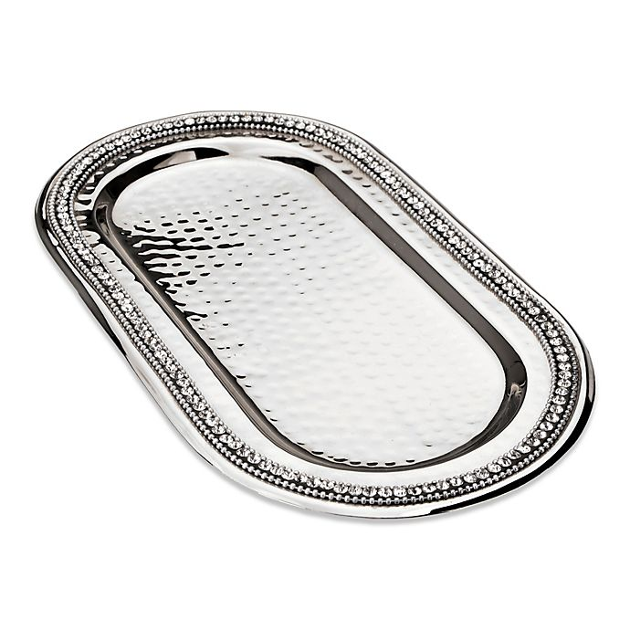 Alternate image 1 for Classic Touch Stainless Steel Oval Tray