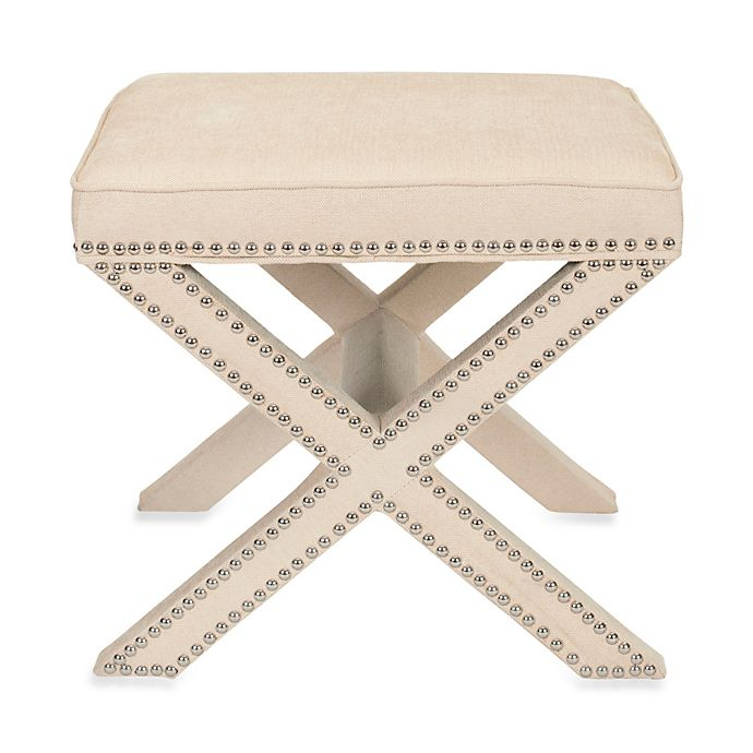 Alternate image 1 for Safavieh Palmer Ottoman in Cream
