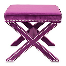 Safavieh Palmer Ottoman in Purple