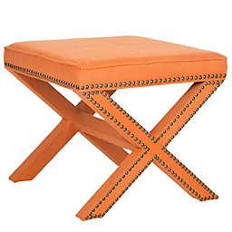 Safavieh Palmer Ottoman in Orange