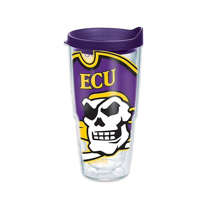 Alternate image 1 for Tervis® East Carolina University Pirates 24 oz. Wrap Tumbler with Lid