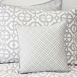 Caden Lane® Mod Lattice Square Throw Pillow in Grey/White