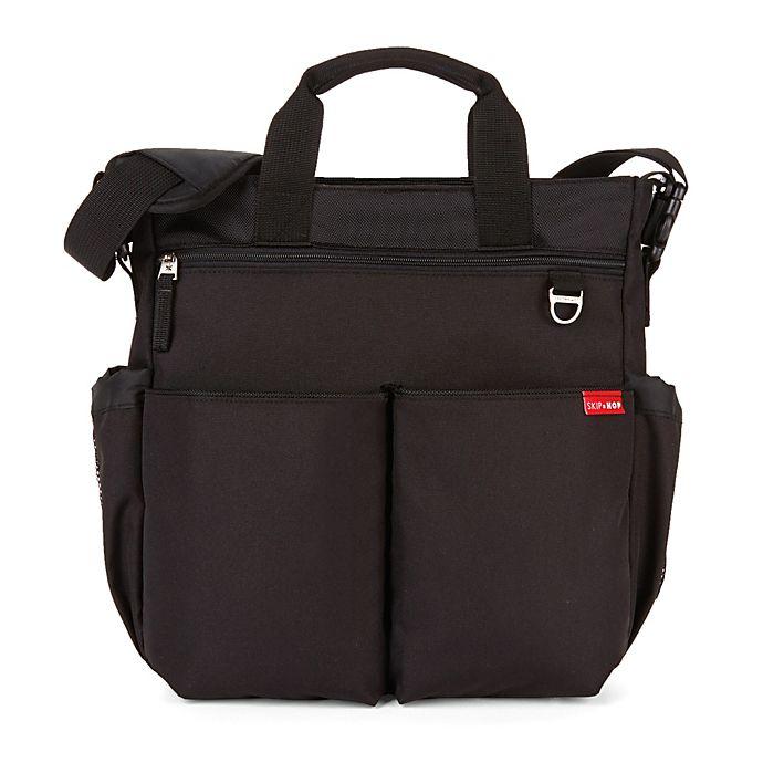 Alternate image 1 for SKIP*HOP® Duo Signature Diaper Bag in Black