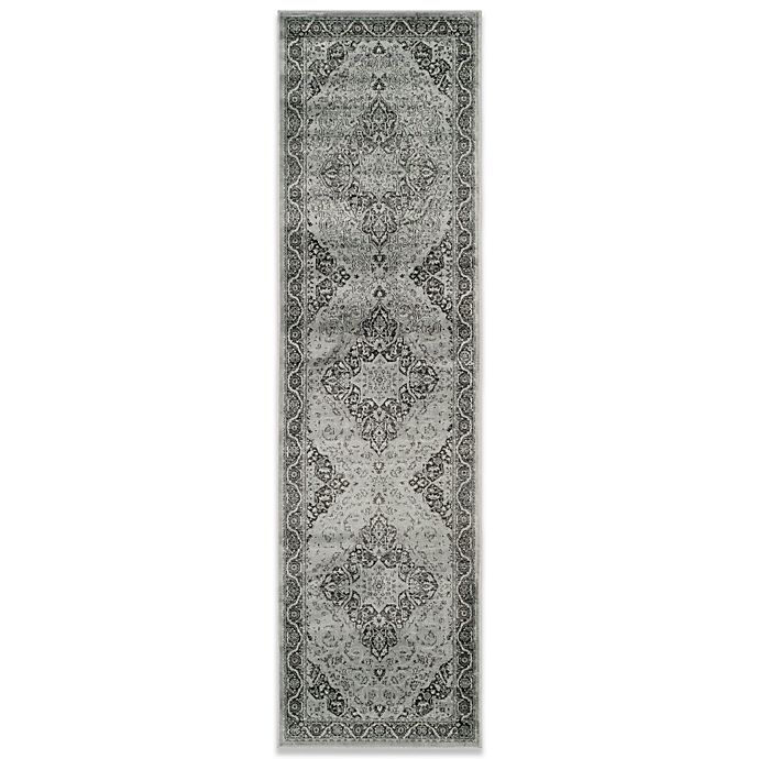 Alternate image 1 for Safavieh Vintage Kiana 2-Foot 2-Inch x 6-Foot Accent Rug in Light Blue/Grey