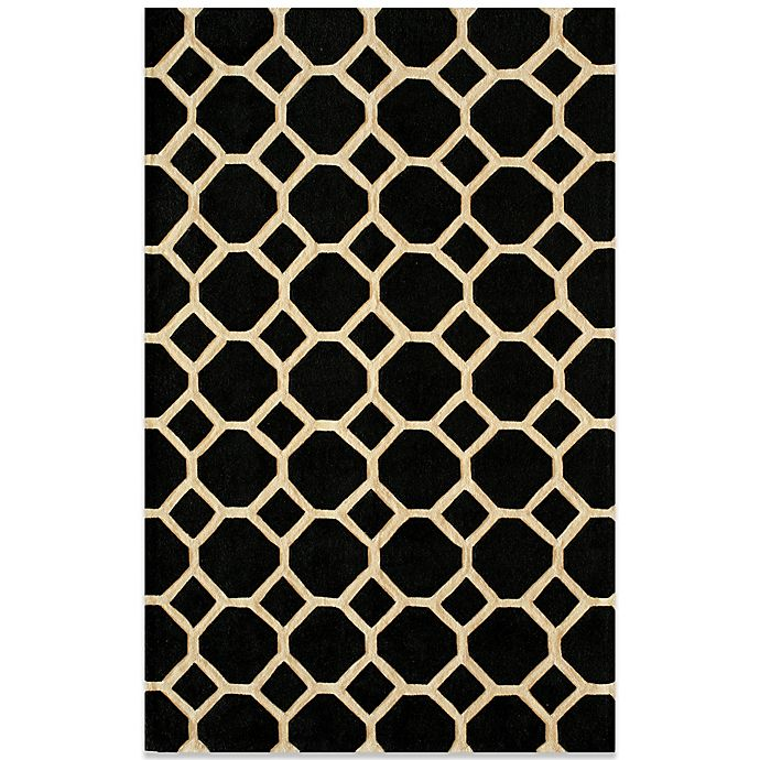 Bed Bath And Beyond Area Rugs Roselawnlutheran Earth Tone: Momeni Bliss Rugs In Black Circles