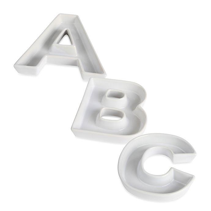 Alternate image 1 for Ivy Lane Design™ Ceramic Letter Candy Dish