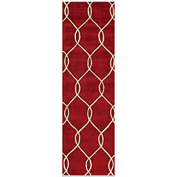 Momeni Bliss 2-Foot 3-Inch x 8-Foot Rug in Red Circles