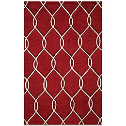 Momeni Bliss Rug in Red Circles