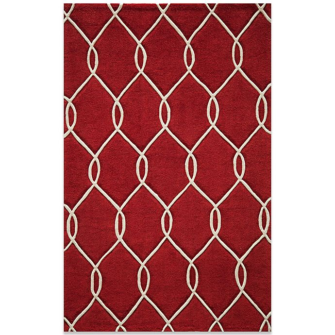 Alternate image 1 for Momeni Bliss 8-Foot x 10-Foot Rug in Red Circles