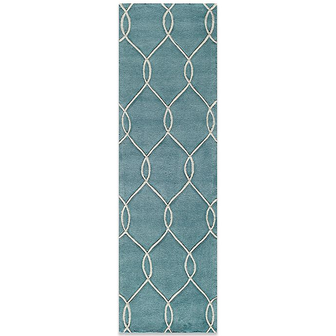 Alternate image 1 for Momeni Bliss 2-Foot 3-Inch x 8-Foot Rug in Teal