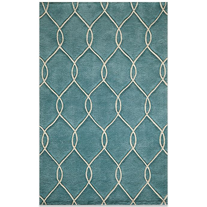 Alternate image 1 for Momeni Bliss 5-Foot x 7-Foot 6-Inch Rug in Teal
