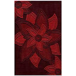 Momeni 5-Foot x 8-Foot Delhi Rug in Red