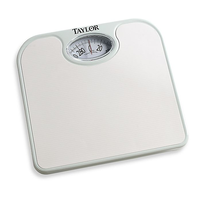 Metro Ez Read Dial Bathroom Scale in White | Bed Bath & Beyond