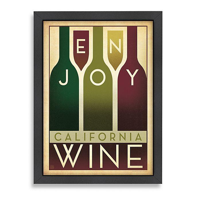 Alternate image 1 for Americanflat Enjoy California Wine Framed Wall Art