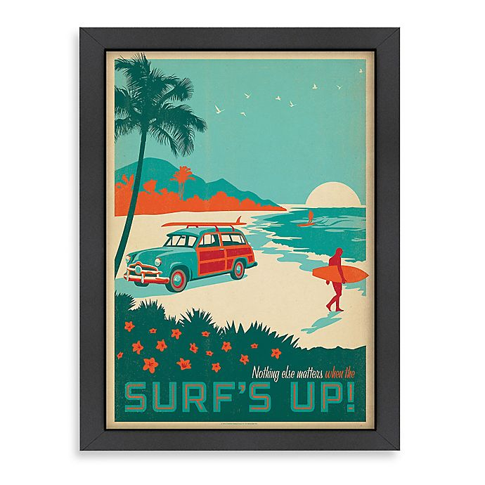 Alternate image 1 for Americanflat CC Surf's Up! 26.5-Inch x 20.5-Inch Framed Wall Art