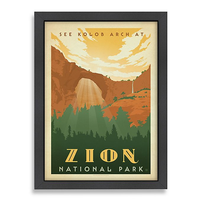 Alternate image 1 for Americanflat Zion National Park Framed Wall Art