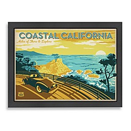 "Americanflat ""Coastal California""  Framed Art"