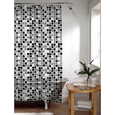 Tiles Shower Curtain in Black/White