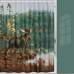 Back Bay Moose 72-Inch x 72-Inch Shower Curtain