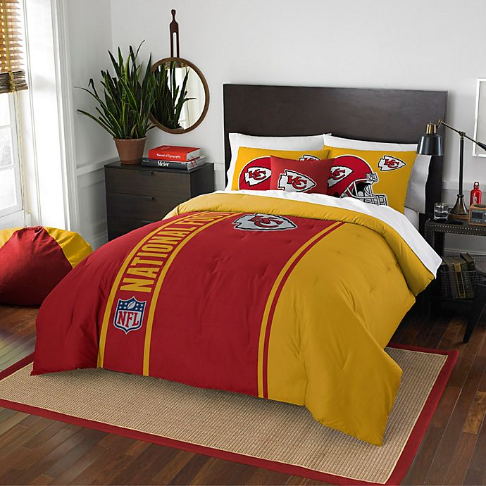 fb37f5cd NFL Kansas City Chiefs Embroidered Comforter Set | Bed Bath & Beyond