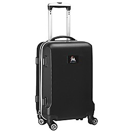 MLB Miami Marlins 20-Inch Hardside Carry On Spinner in Black