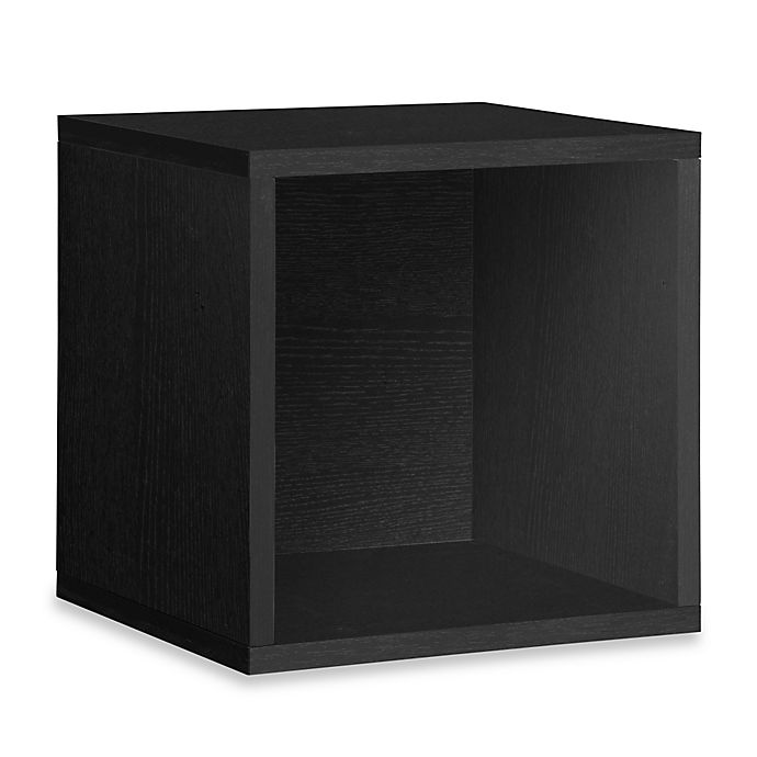 Alternate image 1 for Way Basics Tool-Free Assembly zBoard paperboard Stackable Extra Large Storage Cube in Black