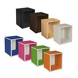 Way Basics Tool-Free Assembly Stackable Tall Storage Cube Plus
