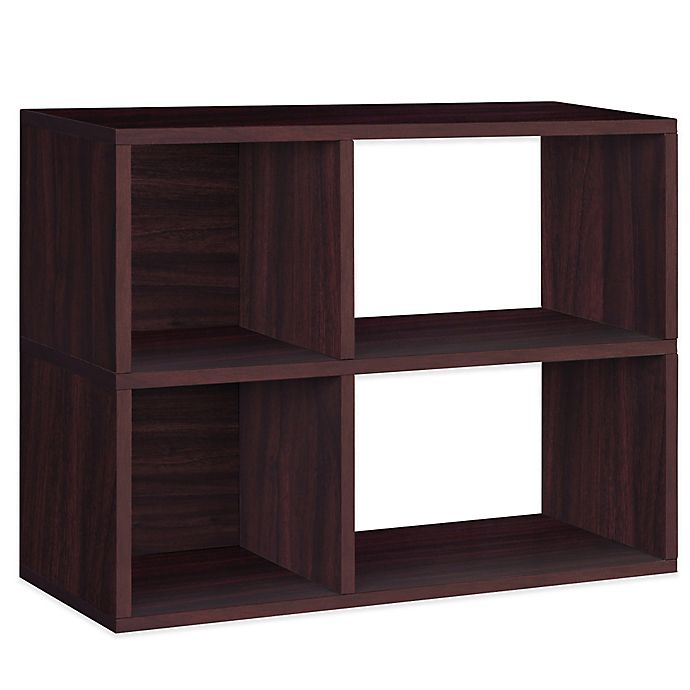 Alternate image 1 for Way Basics Tool-Free Assembly 2-Shelf Chelsea Bookcase and Storage Shelf in Espresso Wood Grain