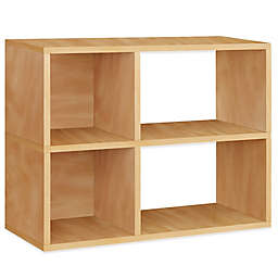 Way Basics Tool-Free Assembly 2-Shelf Chelsea Bookcase and Storage Shelf in Natural Wood Grain